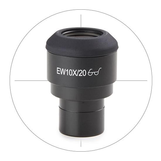 Oculaire EWF 10x/22 avec réticule en croix (tube diam. 30mm)