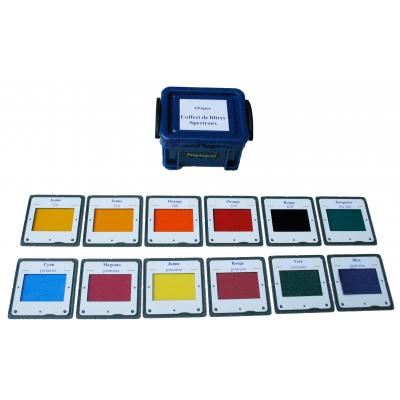 Coffret de filtres de couleurs primaires