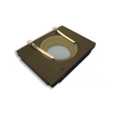 Platine XY manuelle avec insert en verre